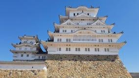 Widok Himeji kasztel, Japonia zbiory wideo