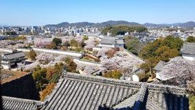 Widok Himeji kasztel od wierzcho?ka, Japonia zdjęcie stock