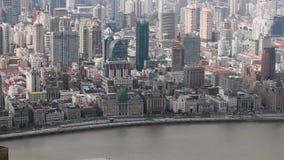 Widok historyczna architektura Bund, stawia czo?o Huangpu rzek?, Szanghaj, Chiny zbiory