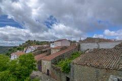 Widok historyczna wioska Castelo Mendo w Portugalia; obraz stock