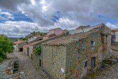 Widok historyczna wioska Castelo Mendo w Portugalia; fotografia royalty free
