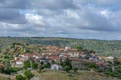 Widok historyczna wioska Castelo Mendo w Portugalia; Conce zdjęcie royalty free