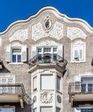 Widok historyczny budynek w pięknym mieście Merano w Południowym Tyrol, Włochy Obrazy Royalty Free