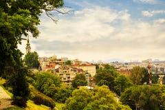 Widok historyczny centrum Belgrade Zdjęcie Stock