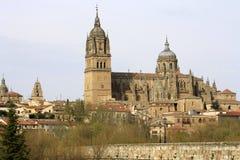Widok historyczny miasto Salamanca z Nową katedrą Zdjęcie Royalty Free
