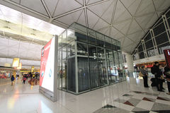 Widok Hong Kong lotnisko międzynarodowe Zdjęcia Royalty Free