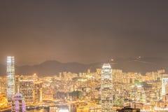 Widok Hong Kong podczas zmierzch godzin Zdjęcia Stock