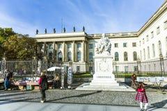 Widok Humboldt uniwersytet Berlin Fotografia Royalty Free