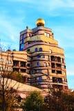 Widok Hundertwasser dom w Darmstadt, Niemcy Obrazy Stock