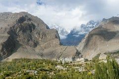 Widok Hunza dolina, Pakistan Fotografia Royalty Free