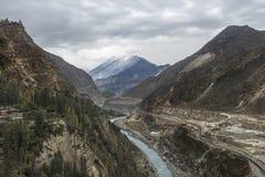 Widok Hunza rzeka, Gilgit, Pakistan Zdjęcie Royalty Free