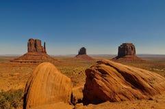 Widok ikonowa Pomnikowa dolina w Arizona Obraz Stock