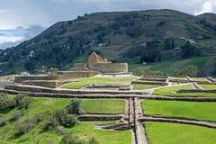 Widok inka ruiny Ingapirca Zdjęcia Stock