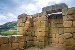Widok inka ruiny Ingapirca Fotografia Stock