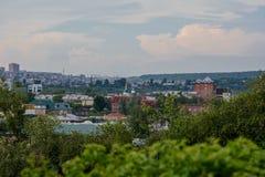 Widok Irkutsk od wzgórza zdjęcie royalty free
