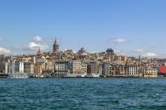 Widok Istanbuł Beyoglu teren fotografia stock