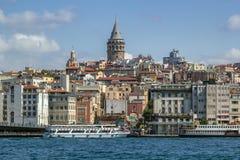 Widok Istanbuł Beyoglu teren obrazy royalty free