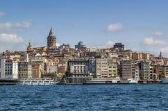 Widok Istanbuł Beyoglu teren obraz royalty free