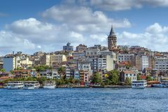 Widok Istanbuł Beyoglu teren, Turcja fotografia stock