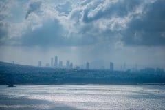 Widok Istanbuł od Galata wierza fotografia royalty free