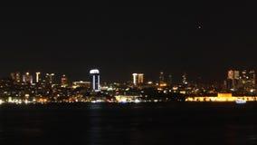 Widok Istanbuł przy noc zbiory