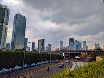 Widok Jakarta w Java, Indonesia zdjęcia royalty free