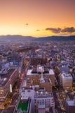 Widok janpan przy zmierzchu timing Kyoto zdjęcie royalty free