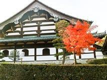 Widok Japońska świątynia w jesieni w Kyoto, Japonia Obrazy Royalty Free