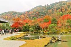 Widok Japoński ogród w jesieni w Kyoto, Japonia Obrazy Stock