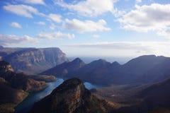 Widok jar rzeczny Blyde, Południowa Afryka Zdjęcia Royalty Free