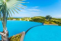 Widok jawny wodny basen przy Boracay wyspą fotografia royalty free