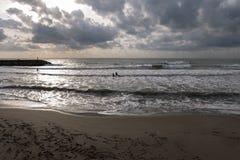 Widok jeden plaże Guardamar del Segura zdjęcie royalty free