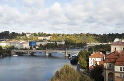 Widok jesień Praga, republika czech Obraz Stock