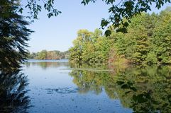 widok jeziora obraz royalty free