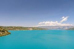 Widok jeziora St Croix w Francja zdjęcie stock