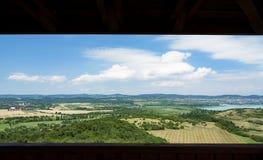 Widok Jeziorny Balaton od Tihany półwysepa Obraz Stock