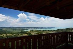 Widok Jeziorny Balaton od Tihany półwysepa Obrazy Royalty Free