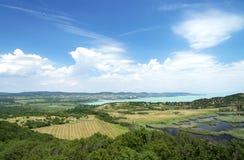 Widok Jeziorny Balaton od Tihany półwysepa Zdjęcie Stock