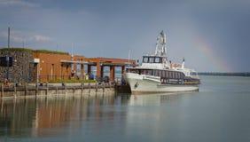 Widok jeziorny Balaton, schronienie od Tihany Fotografia Royalty Free