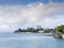 Widok jeziorny Bodensee przy Friedrichshafen Zdjęcia Stock
