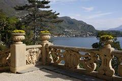 Widok Jeziorny Como od Willi Del Balbianello Fotografia Royalty Free