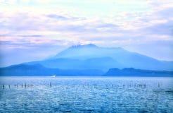 Widok jeziorny Garda zdjęcie royalty free
