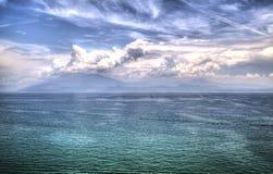 Widok jeziorny Garda zdjęcia stock