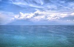 Widok jeziorny Garda obrazy stock