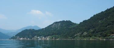 Widok Jeziorny Iseo Obrazy Stock