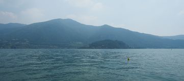 Widok Jeziorny Iseo Obraz Stock