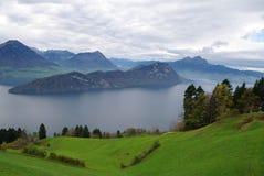 Widok Jeziorny Luzern Fotografia Royalty Free