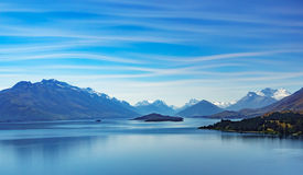 Widok Jeziorny Wakatipu Obraz Stock