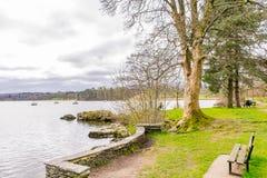 Widok jeziorny windermere od ambleside Jeziorny okręg, Cumbria, Anglia Zdjęcia Stock
