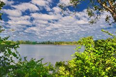 Widok jezioro Fotografia Royalty Free